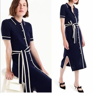 J. Crew Lightweight Merino Wool Shirt Dress